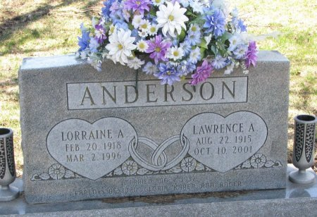 ANDERSON, LORRAINE A. - Burt County, Nebraska | LORRAINE A. ANDERSON - Nebraska Gravestone Photos