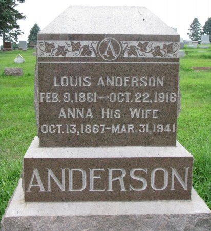 ANDERSON, LOUIS - Burt County, Nebraska | LOUIS ANDERSON - Nebraska Gravestone Photos