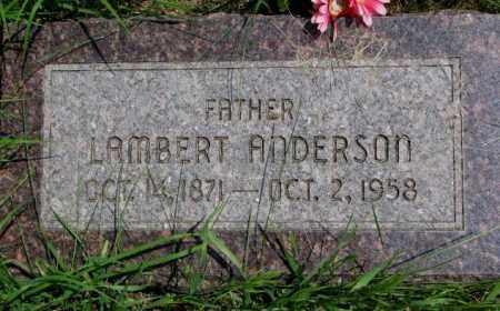 ANDERSON, LAMBERT - Burt County, Nebraska | LAMBERT ANDERSON - Nebraska Gravestone Photos