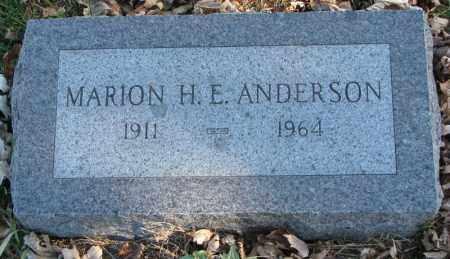 ANDERSON, MARION H.E. - Burt County, Nebraska | MARION H.E. ANDERSON - Nebraska Gravestone Photos