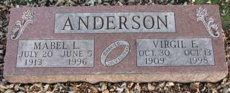 ANDERSON, VIRGIL E. - Burt County, Nebraska | VIRGIL E. ANDERSON - Nebraska Gravestone Photos