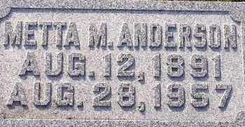 ANDERSON, METTA M. - Burt County, Nebraska   METTA M. ANDERSON - Nebraska Gravestone Photos