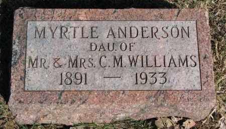 ANDERSON, MYRTLE - Burt County, Nebraska   MYRTLE ANDERSON - Nebraska Gravestone Photos