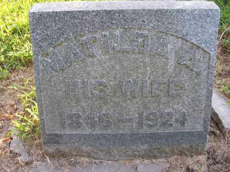 ANDERSON, MATHILDA A. - Burt County, Nebraska   MATHILDA A. ANDERSON - Nebraska Gravestone Photos