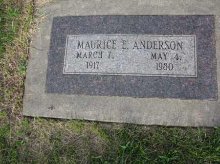 ANDERSON, MAURICE E. - Burt County, Nebraska | MAURICE E. ANDERSON - Nebraska Gravestone Photos