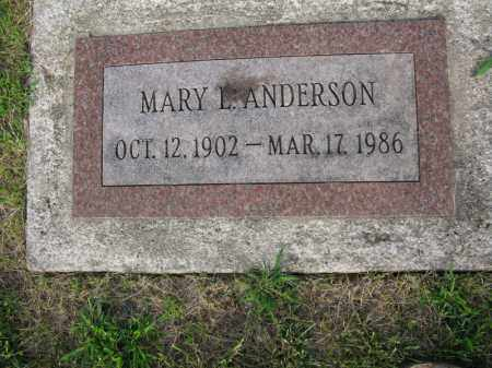 ANDERSON, MARY L. - Burt County, Nebraska | MARY L. ANDERSON - Nebraska Gravestone Photos