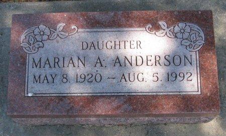 ANDERSON, MARIAN A. - Burt County, Nebraska | MARIAN A. ANDERSON - Nebraska Gravestone Photos