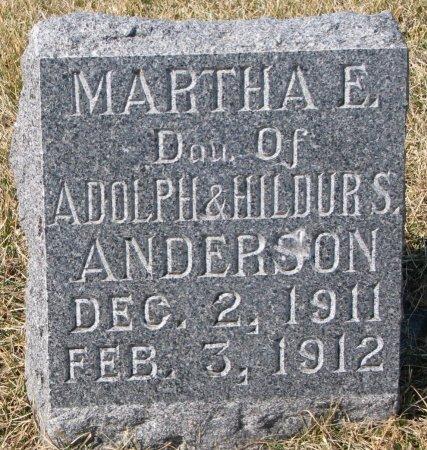 ANDERSON, MARTHA E. - Burt County, Nebraska   MARTHA E. ANDERSON - Nebraska Gravestone Photos