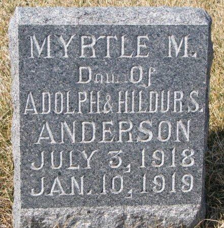 ANDERSON, MYRTLE M. - Burt County, Nebraska | MYRTLE M. ANDERSON - Nebraska Gravestone Photos
