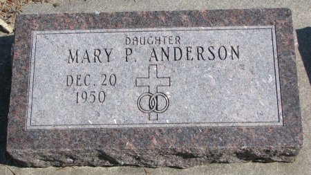 ANDERSON, MARY P. - Burt County, Nebraska | MARY P. ANDERSON - Nebraska Gravestone Photos