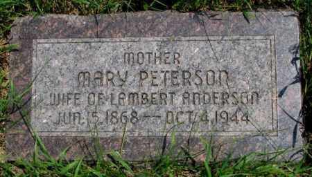 ANDERSON, MARY - Burt County, Nebraska   MARY ANDERSON - Nebraska Gravestone Photos