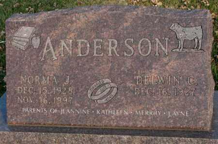 ANDERSON, DELWIN C. - Burt County, Nebraska | DELWIN C. ANDERSON - Nebraska Gravestone Photos