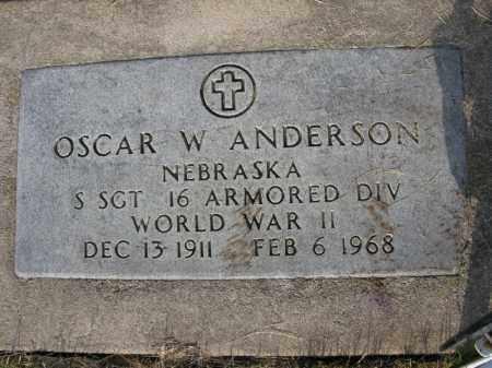 ANDERSON, OSCAR W. - Burt County, Nebraska | OSCAR W. ANDERSON - Nebraska Gravestone Photos