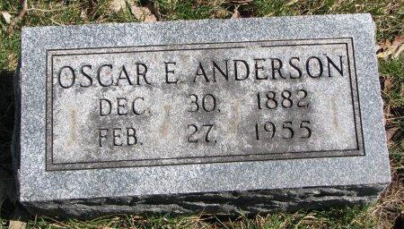 ANDERSON, OSCAR E. - Burt County, Nebraska | OSCAR E. ANDERSON - Nebraska Gravestone Photos