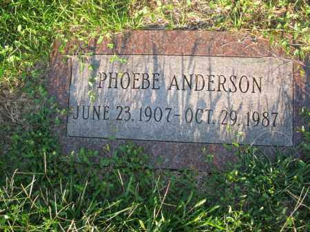 ANDERSON, PHOEBE - Burt County, Nebraska   PHOEBE ANDERSON - Nebraska Gravestone Photos