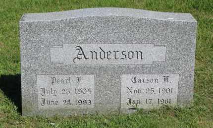 ANDERSON, CARSON L. - Burt County, Nebraska   CARSON L. ANDERSON - Nebraska Gravestone Photos
