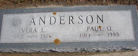 ANDERSON, PAUL Q. - Burt County, Nebraska | PAUL Q. ANDERSON - Nebraska Gravestone Photos