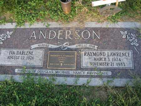 ANDERSON, RAYMOND LAWRENCE - Burt County, Nebraska | RAYMOND LAWRENCE ANDERSON - Nebraska Gravestone Photos