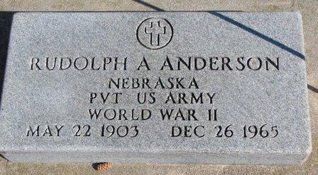 ANDERSON, RUDOLPH A. - Burt County, Nebraska | RUDOLPH A. ANDERSON - Nebraska Gravestone Photos