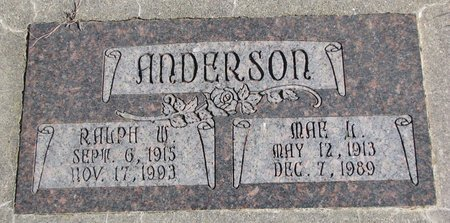 ANDERSON, RALPH W. - Burt County, Nebraska | RALPH W. ANDERSON - Nebraska Gravestone Photos