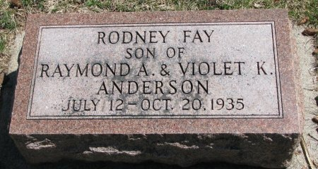 ANDERSON, RODNEY FAY - Burt County, Nebraska | RODNEY FAY ANDERSON - Nebraska Gravestone Photos
