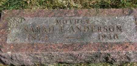 ANDERSON, SARAH E. - Burt County, Nebraska | SARAH E. ANDERSON - Nebraska Gravestone Photos