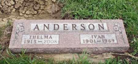 ANDERSON, THELMA - Burt County, Nebraska   THELMA ANDERSON - Nebraska Gravestone Photos