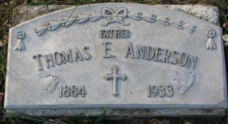 ANDERSON, THOMAS E. - Burt County, Nebraska | THOMAS E. ANDERSON - Nebraska Gravestone Photos