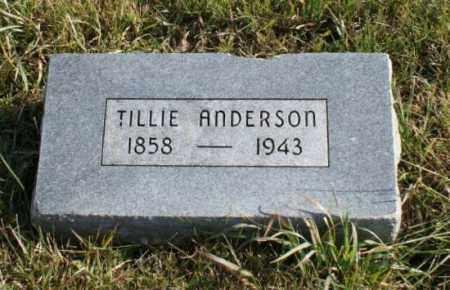 ANDERSON, TILLIE - Burt County, Nebraska | TILLIE ANDERSON - Nebraska Gravestone Photos
