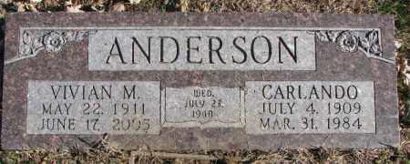ANDERSON, CARLANDO - Burt County, Nebraska   CARLANDO ANDERSON - Nebraska Gravestone Photos