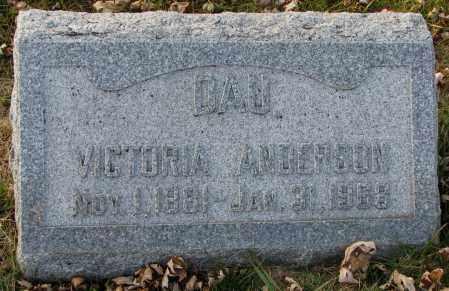 ANDERSON, VICTORIA - Burt County, Nebraska | VICTORIA ANDERSON - Nebraska Gravestone Photos