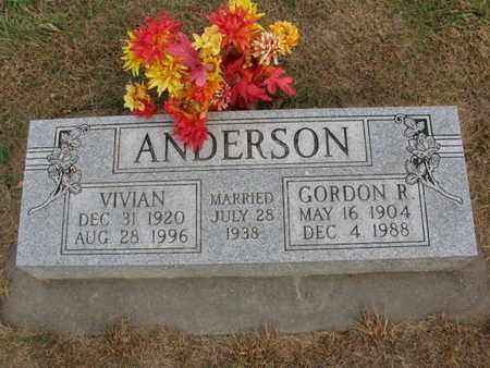 ANDERSON, GORDON R. - Burt County, Nebraska | GORDON R. ANDERSON - Nebraska Gravestone Photos