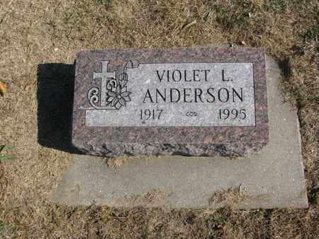 ANDERSON, VIOLET L. - Burt County, Nebraska | VIOLET L. ANDERSON - Nebraska Gravestone Photos