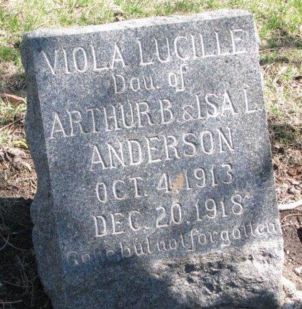ANDERSON, VIOLA LUCILLE - Burt County, Nebraska | VIOLA LUCILLE ANDERSON - Nebraska Gravestone Photos