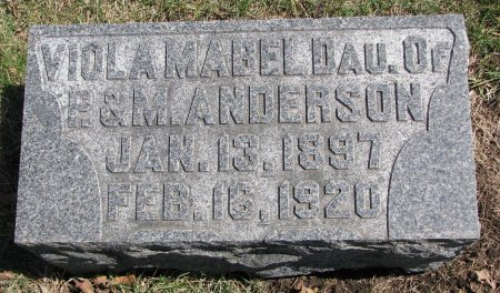 ANDERSON, VIOLA MABEL - Burt County, Nebraska | VIOLA MABEL ANDERSON - Nebraska Gravestone Photos