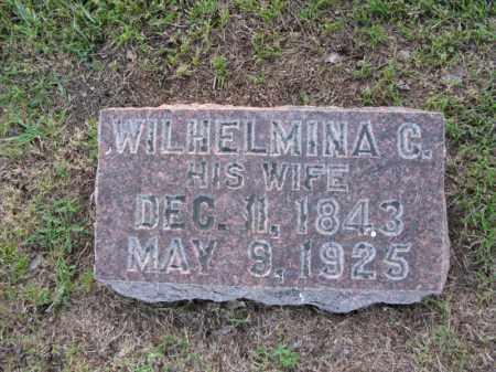 ANDERSON, WILHELMINA C. - Burt County, Nebraska | WILHELMINA C. ANDERSON - Nebraska Gravestone Photos