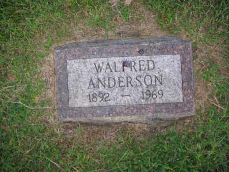 ANDERSON, WALFRED - Burt County, Nebraska | WALFRED ANDERSON - Nebraska Gravestone Photos