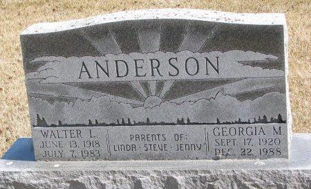 FLETCHER ANDERSON, GEORGIA M. - Burt County, Nebraska | GEORGIA M. FLETCHER ANDERSON - Nebraska Gravestone Photos