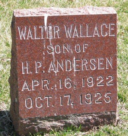 ANDERSEN, WALTER WALLACE - Burt County, Nebraska | WALTER WALLACE ANDERSEN - Nebraska Gravestone Photos