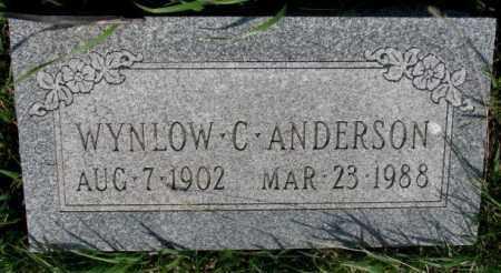 ANDERSON, WYNLOW C. - Burt County, Nebraska   WYNLOW C. ANDERSON - Nebraska Gravestone Photos