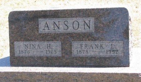 HILL ANSON, NINA - Burt County, Nebraska   NINA HILL ANSON - Nebraska Gravestone Photos