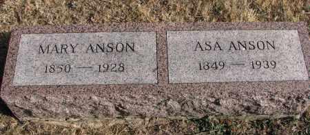 ANSON, MARY - Burt County, Nebraska | MARY ANSON - Nebraska Gravestone Photos