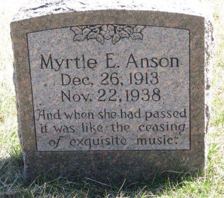 ANSON, MYRTLE E. - Burt County, Nebraska   MYRTLE E. ANSON - Nebraska Gravestone Photos