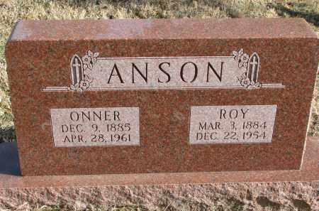 ANSON, ROY - Burt County, Nebraska | ROY ANSON - Nebraska Gravestone Photos