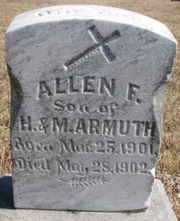 ARMUTH, ALLEN F. - Burt County, Nebraska   ALLEN F. ARMUTH - Nebraska Gravestone Photos