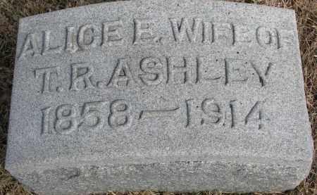 ASHLEY, ALICE E. - Burt County, Nebraska | ALICE E. ASHLEY - Nebraska Gravestone Photos