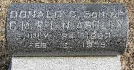 ASHLEY, DONALD C. - Burt County, Nebraska | DONALD C. ASHLEY - Nebraska Gravestone Photos