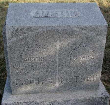 AUSTIN, HANNAH - Burt County, Nebraska | HANNAH AUSTIN - Nebraska Gravestone Photos