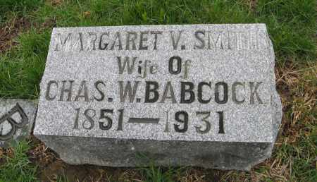 BABCOCK, MARGARET V. - Burt County, Nebraska | MARGARET V. BABCOCK - Nebraska Gravestone Photos