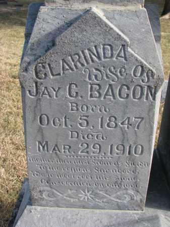 BACON, CLARINDA (CLOSEUP) - Burt County, Nebraska | CLARINDA (CLOSEUP) BACON - Nebraska Gravestone Photos